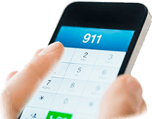 Image of mobile phone calling 9-1-1, showing how your Smart911 Profile will display to the call taker if you call 9-1-1